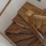 Scara din lemn balansata lemn stejar