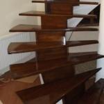 Placare scara circulara cu lemn masiv de stejar