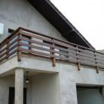 Balustrada exterioara din lemn brad Focsani