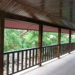 Balustrada exterioara lemn brad model drept