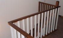 Balustrada lemn alba