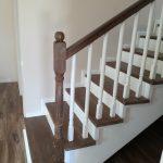 Balustrada lemn stejar alba Constanta